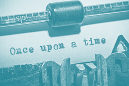 Once upon a time typewritten on typewriter